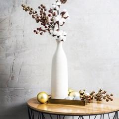 원목 상판 철제 사이드 테이블