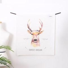 타이포 디어 LED 패브릭 액자 포스터 커튼 (90x100cm)