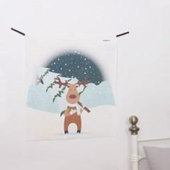 트리 루돌프 LED 패브릭 액자 포스터 커튼 (58x66cm)