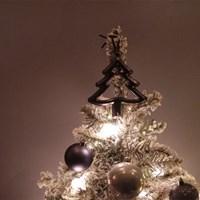 네이비 스노우 크리스마스 트리 - M사이즈