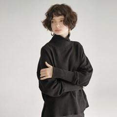 Wool Knit Turtleneck - Black