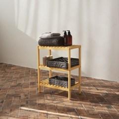 [올리빙] 원목 벤치형 신발장 3단 500
