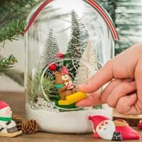 [10x10단독] 데꼴 피규어 크리스마스 테라리움 - 원형