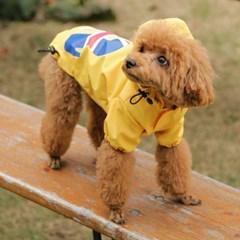 [리얼펫] 우비소녀 레인코트 강아지우비 애견비옷