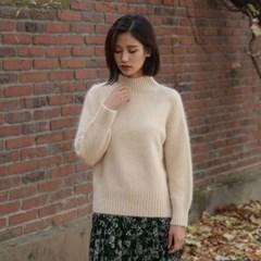 golgi half neck angora knit