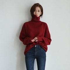 simple turtleneck knit
