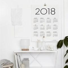 2018 SIMPLE CALENDAR POSTER