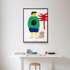 유니크 인테리어 디자인 포스터 M 산책