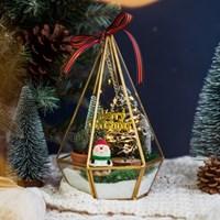 [10x10단독] 데꼴 피규어 크리스마스 테라리움 - 삼각형