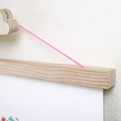 리틀리 행잉액자+겨울포스터 / 핑크줄