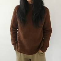 Billy half-neck lambswool knit