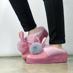 kami et muse 6cm tall up drop fur slippers_KM17w182