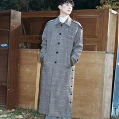 HOLMES LONG OVER CHECK COAT BEIGE