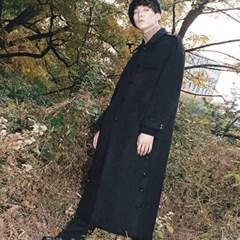 HOLMES LONG OVER COAT BLACK