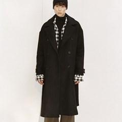 WOOL OVER ROBE COAT BLACK