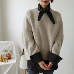 리본 카라 울 셔츠 (2-COLORS)