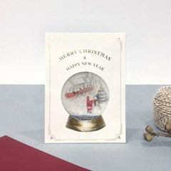 SNOW GLOBE CARD_WHITE CHRISTMAS