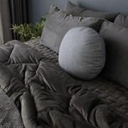[바이아미] 시크 양면 극세사 침구 (챠콜) - 싱글사이즈