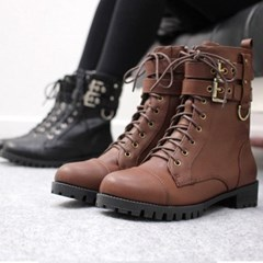 kami et muse Double belted ankle walker boots_KM17w190
