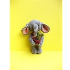 [손뜨개 DIY]손뜨개인형-동물친구들3-코끼리