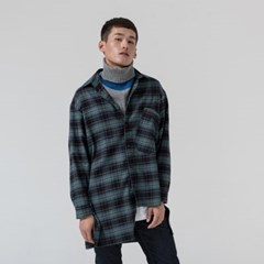 CHECK OVERSIZE SHIRTS_GREEN