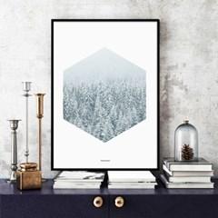 북유럽 인테리어 액자 포스터 겨울시리즈