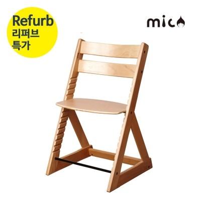 [리퍼상품] 미코원목높이조절의자 & 아기식탁의자
