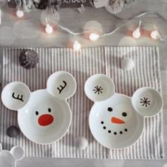 더홈스 곰돌이접시 크리스마스에디션 1+1