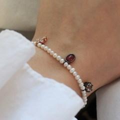 투어말린 참 진주 팔찌 tourmaline charm pearls bracelet