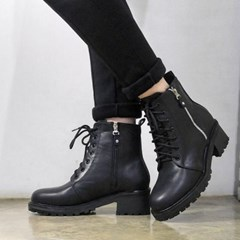 kami et muse Both side zipper ankle walker boots_KM17w209
