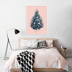 크리스마스 트리 포스터 인테리어 액자