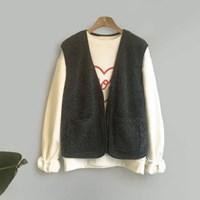 Zipper Yang-fur VEST (3-color)