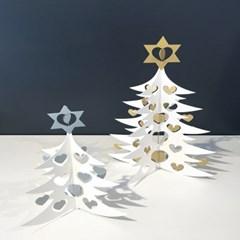 Christmas Tree mobile - White/Silver (크리스마스 트리모빌 실버)