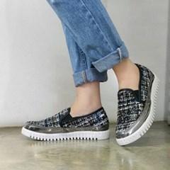 kami et muse Mixed tweed slip on sneakers_KM17w212
