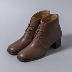 [흰]HS1713 Lace-up Ankle Boots_Brown