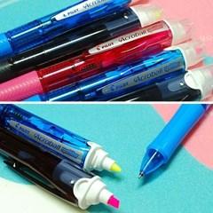 아크로볼 스포트라이터 3색 볼펜 형광펜