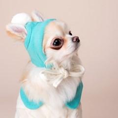 위드토리 면니트 솜사탕 강아지 티셔츠 & 원피스