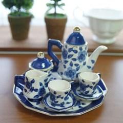 루시아 미니어처 찻잔세트 블루