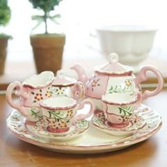루시아 미니어처 찻잔세트 핑크