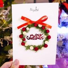 크리스마스카드 드라이플라워카드 NO.23 기쁨의 크리스마스