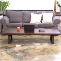 [잉카]솔내음 소나무원목 철제 소파테이블 1200/1500/1700
