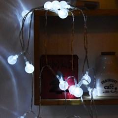 LED 20P 물방울 앵두 건전지(밧데리)전구 (백색)