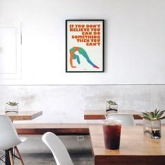 유니크 인테리어 디자인 포스터 M 피트니스3 헬쓰