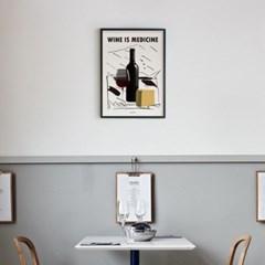 유니크 인테리어 디자인 포스터 M 와인 이즈 메디슨2 Wine