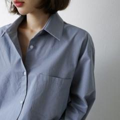 윈터 코튼 루즈핏 셔츠 (5-COLORS)
