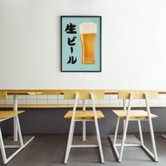 일본 인테리어 디자인 포스터 M 생맥주4 일본소품