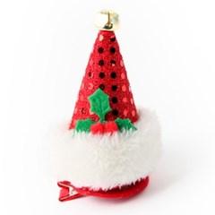귀요미 산타모자 머리핀 (레드)