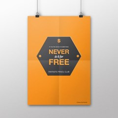 FPC 인테리어 아트 포스터 액자 Never Free