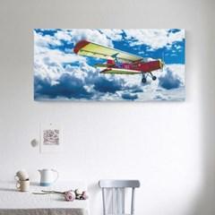캔버스액자 /CAS531 창공의 비행기 - 가로 와이드 대형
