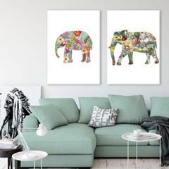 동물 일러스트 아기코끼리